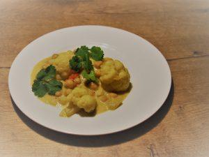 recept bloemkool curry met kikkererwten